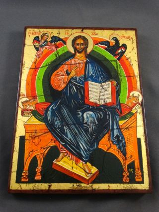 Ikone Icon Heiligenbild Christus - Fürbitt Reihe - Handgemalt Bild