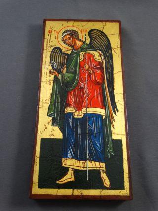 Ikone Icon Heiligenbild Erzengel Gabriel - Fürbitt Reihe - Handgemalt Bild