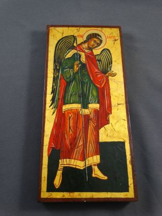 Ikone Icon Heiligenbild Erzengel Michael - Fürbitt Reihe - Handgemalt Bild