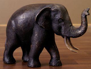 Bronze Elefanten Skulptur Statue Elefant 25cm 707d Bild