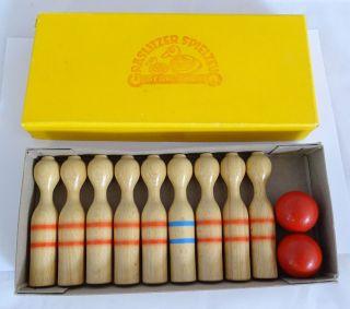 Graslitzer Spielzeug Eger Sudetenland Antikes Kegelspiel Inkl.  Ovp Bild