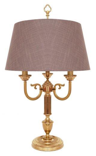 Elegante Jugendstil Salonleuchte Tischlampe Stoffschirm Dreiflg.  72 Cm Hoch Bild
