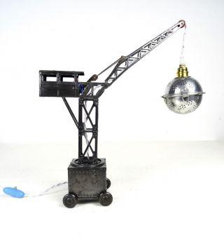 30er Jahre Joustra Kran Lampe Blechspielzeug Tischlampe Industrie Steampunk Lamp Bild