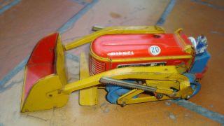 Gescha Blech - Type 2k - Planierraupe - Blechspielzeug. Bild