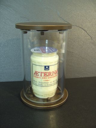 Grablaterne 8727/15 Aus Bronze | Zylinderglaslampe | Grabschmuck | Grablicht Bild