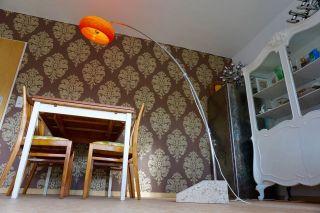 Vintage Bogenlampe Hustadt Stehlampe Leuchte Chrom Design Lampe 70er Panton Bild