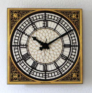 Big Ben Uhr Westminster London Funk Wanduhr 33 X 33 Cm 3d Keramik Auch In Xxl Bild