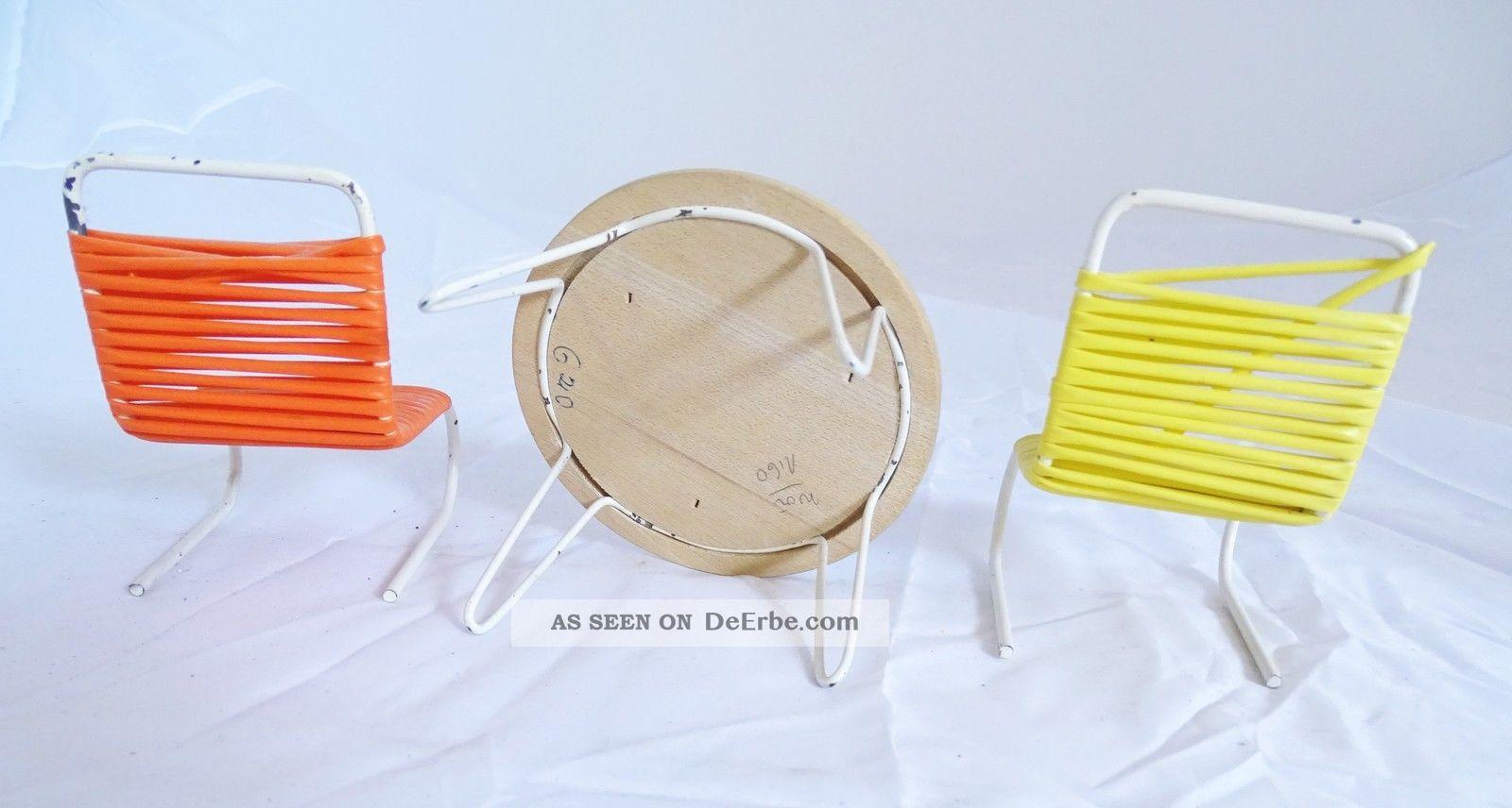 70er jahre puppenstube rarit ten m bel st hle mit tisch panton ra. Black Bedroom Furniture Sets. Home Design Ideas