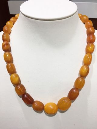 Olive Nature Amber Butterscotch Necklace 老琥珀 Natur Bernsteinkette 52,  5cm Old Bild