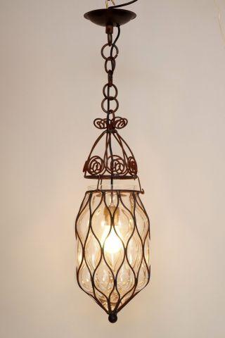 Wunderschöne Portugisische Flurlaterne Hängeleuchte Deckenlampe Shabby Chic Bild