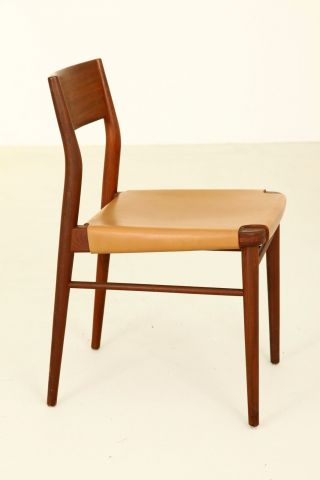 Georg Leowald Teak Chair Modell 351 Bauhaus Deutscher Werbund Ulmer Schule 1955 Bild
