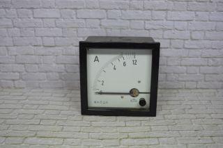 Amperemeter,  H&b - Elima,  0 - 12aacdc 9,  5 X 9,  5 Cm; K23 92 Bild