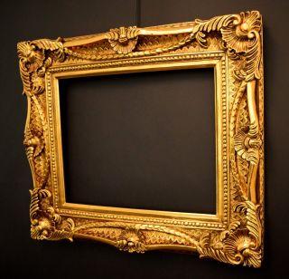 Prunk Bilderrahmen 40 X 50 Cm / 60x70 Cm Gold Vintage Rokoko Barockrahmen Bild