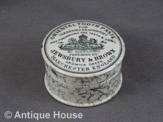 Antike Dose Oriental Tooth Paste Jewsbury & Brown Manchester England Um 1900 Bild