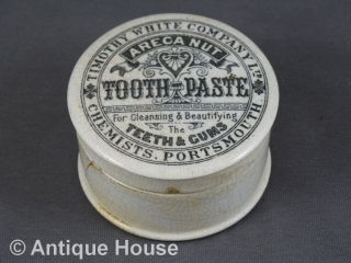 Antike Dose Tooth Paste Timothy White Company Chemists Portsmouth England Um 190 Bild