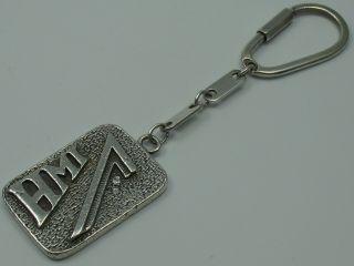 Hmi Massiver Schlüsselanhänger Aus 925 Silber Mit 2 Echten Brillanten Bild