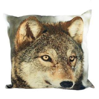 Kissen Winter Wolf Ca.  50x50 Cm Incl.  Inlet Dekokissen Loup Landhausstil Bild