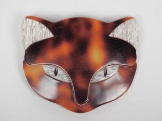 Lea Stein Brosche.  Cat Head / Katzenkopf. Bild