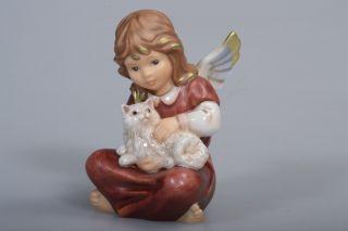 Goebel Engel Sitzend Mit Katze