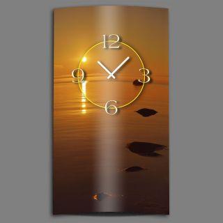 Sonnenuntergang Meer Designer Wanduhr Modernes Wanduhren Design Leise Kein Tick Bild