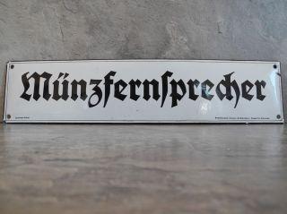 Münzfernsprecher ✨ Gladiator - Email ✨ Emailleschild Von 1903 - Museumsstück Bild