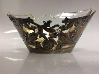 800 Silberschale Mit Glaseinsatz Bild