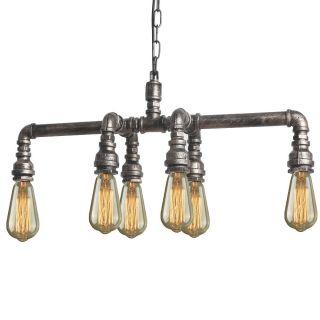 Retro Rohr Sixpipe Lampe Steampunk Hängelampe Inkl.  Leuchtmittel Bild