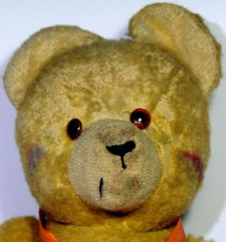 Alter Teddy,  Gelbes Fell Ca.  46cm