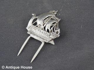 Silber 800 Wurstpieker Wurstpikser Vorleger Segelschiff - Cw Bild