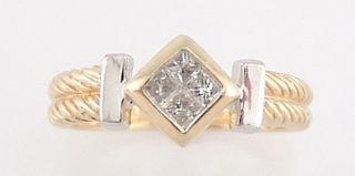 Diamant - Ring,  0,  20ct,  Gelbgold 14k Bild