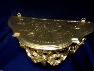 Wandkonsole/spiegelkonsolen/wandregal Barock Antik Gold B:31xt:15x H:15 Cm Cp73 Bild