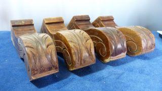 Antike Handgeschnitzte Möbelfüße - Schrank - / Sofafüße - Massiv Schwer Bild