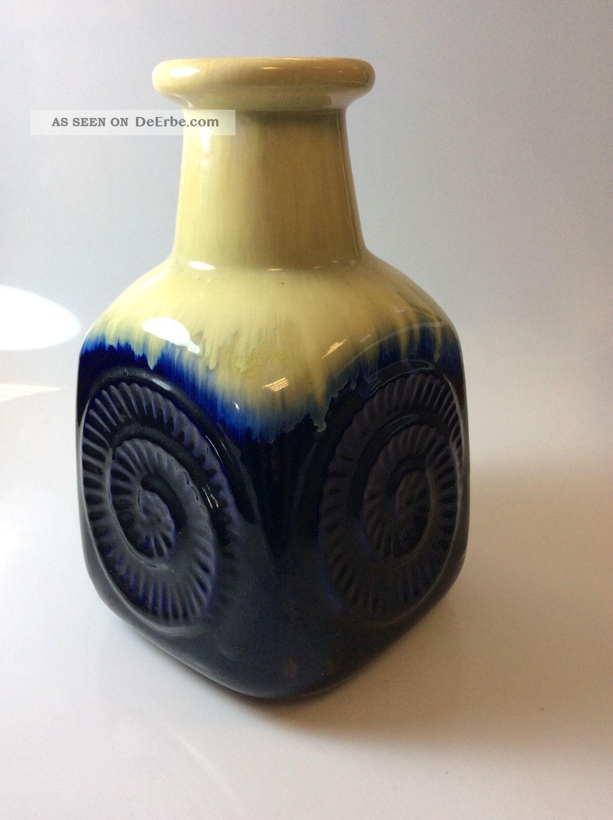 Vase Von Bay Keramik 80 25 Design Bodo Mans Blau Weiß 1960-1969 Bild
