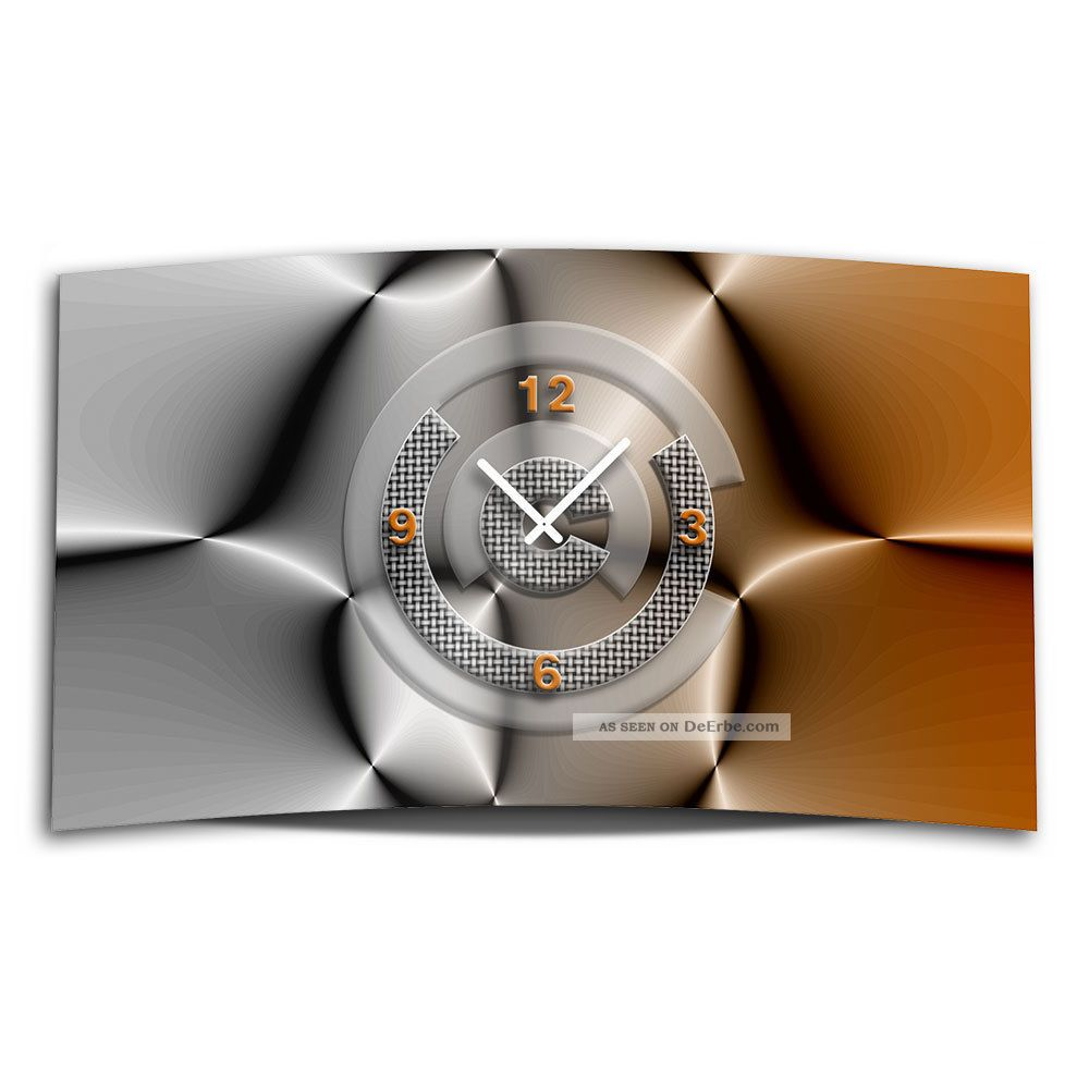 Ando Wohndesign: Abstrakt Grau Braun Designer Wanduhr Modernes Wanduhren