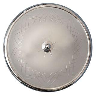 Wunderschöne Chrom Plafonier Plafoniere Deckenleuchte Deckenlampe Geschliffen Bild