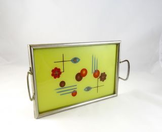 Seltenes Avantgarde Bauhaus Tablett Geometrisch Art Deco Modernist Tray Bild