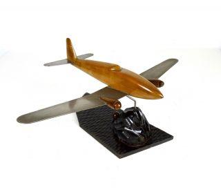 Seltene Große Art Deco Flugzeug Skulptur Frankreich 1930 Metal & Holz Bild