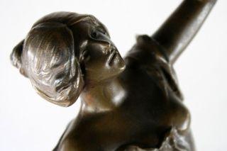 Antike Jugendstil Statue Skulptur Figur Signiert Bild