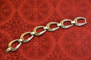 Seltenes Massives Damenarmband Silber 835 Hufeisengliederform Pferdeliebhaber Bild