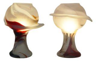 Einzigartige Glaslampen Paar Peil & Putzler Tischlampe 70er Jahre Retro Lampe Bild