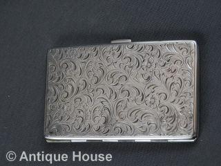 Kleines Altes Zigarettenetui Silber 800 Rechteckig Innen Vergoldet Bild