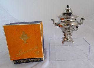 Alter Russicher Modell Samowar Yasnaya Made In Ussr Rarität Inkl.  Ovp Bild