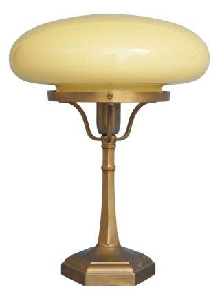 Klassische Messinglampen Tischleuchte Art Deco Tischleuchte Pilzlampe Bild