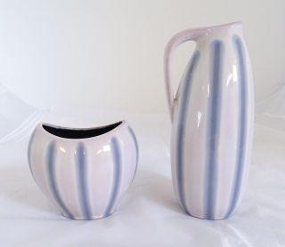 Paar Seltene Mid Century Keramik Vasen Fritz Van Daalen Aalen Tolles Design Bild