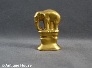 Gluttöter Porzellan Elefant Glutlöscher Golden Bild