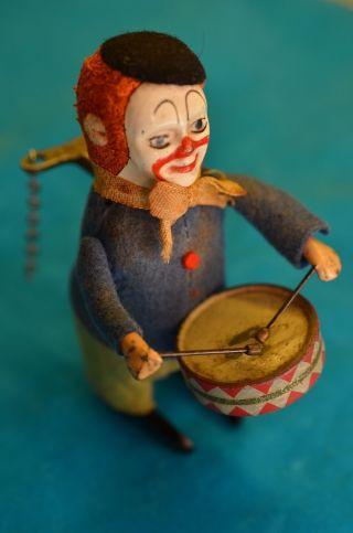 Altes Sammlerstück Orig.  Schuco Clown Mit Trommel Und Schlüssel Bild
