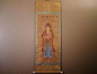 Chinesisches Rollbild Buddha Seidenpapier 170x60cm China Malerei Bild 479/01 Bild