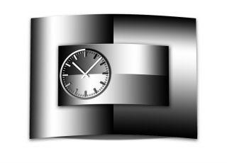 Wanduhr Xxl 3d Optik Dixtime Abstrakt Schwarz Weiß 50x70 Cm Leises Uhrwerk Gr - 00 Bild