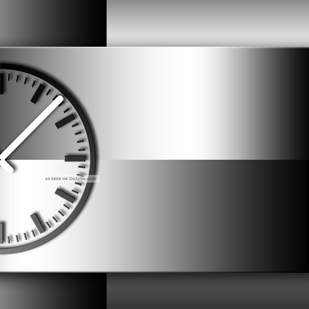 Ando Wohndesign: Wanduhr Xxl 3d Optik Dixtime Abstrakt Schwarz Weiß 50x70