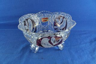 Glasschale Bonbonniere Bleikristall